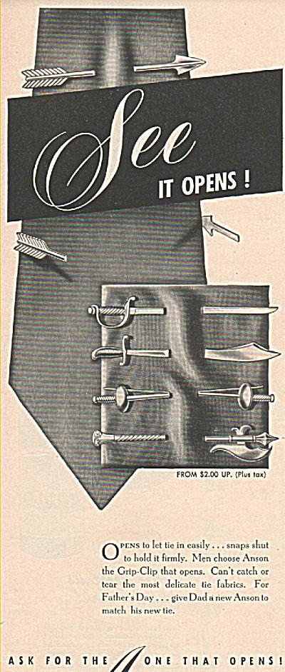 Anson's tie clip ad (Image1)