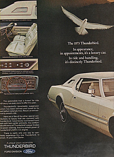 Ford Thunderbird of 1973 ad (Image1)