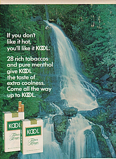 Kool filter kings cigarettes ad 1972 (Image1)