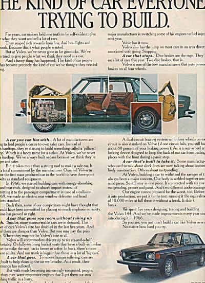 Volvo auto CAR ad 1972 (Image1)