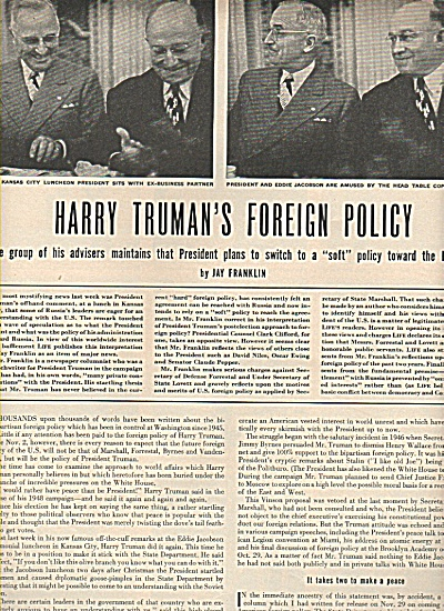 Harry Truman's foreign policy - Late 40s (Image1)