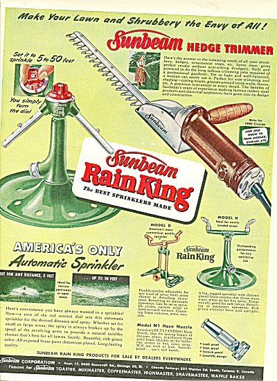 Sunbeam rain king ad 1951 (Image1)