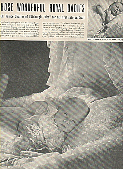 Prince Charles Pictured As Baby
