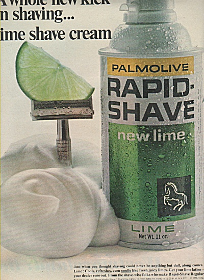 PALMOLIVE  Rapid shave lime ad 1966 (Image1)