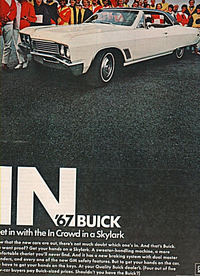1967 Buick Skylark - In Crowd Print Car Ad