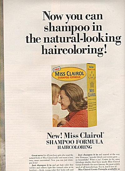 Miss Clairol shampoo haircoloring ad 1966 (Image1)