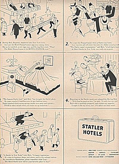 VINTAGE Statler Hotels ad (Image1)