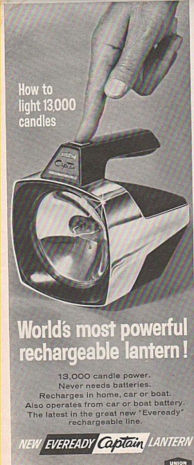 1966 Eveready Captain Lantern Print AD (Image1)