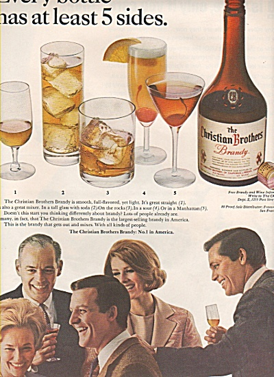 The Christian Brothers Brandy Ad 1966