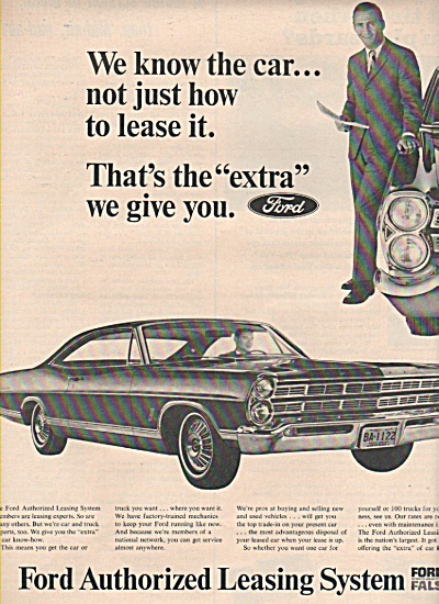 1966 Ford Leasing Automobile Fals Print Car Ad