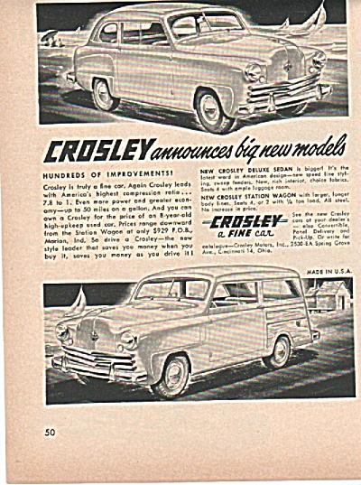 Crosley automobile ad (Image1)