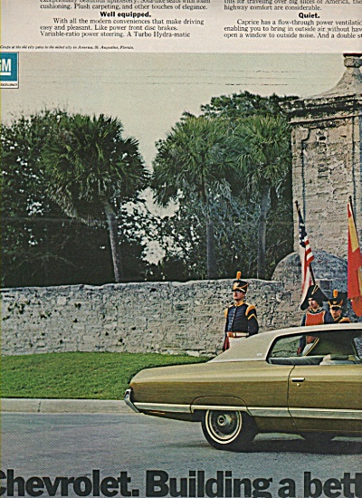 1972 Chevy Caprice Old City Gates St Augustine Fl Ad 2p