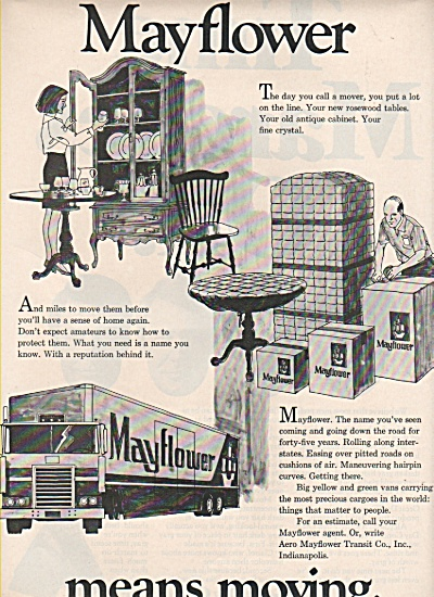 1972 Mayflower Moving Company Print AD - 45 years (Image1)