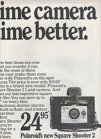 Polaroid's New Square Shooter 2 Ad 1972