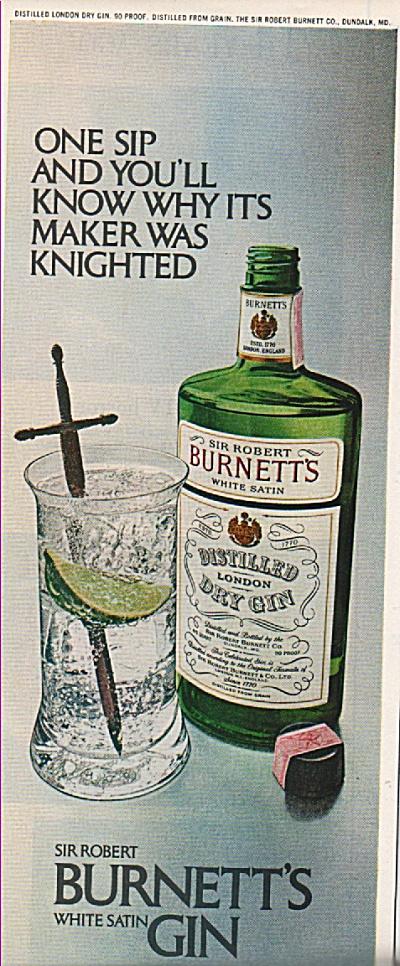 Burnett's white satin gin ad 1972 (Image1)