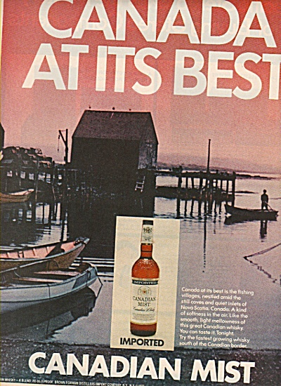 Canadian Mist Whisky Ad 1972