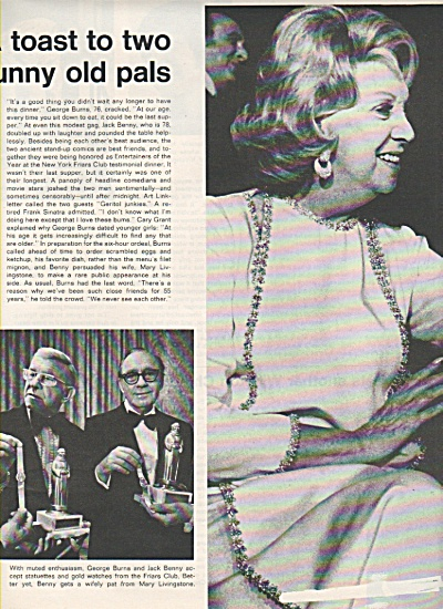JACK BENNY - GEORGE BURNS  party 1972 (Image1)