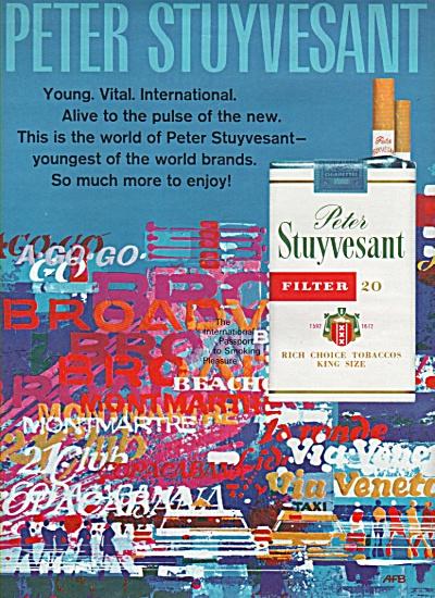 1968 Peter Stuyvesant Filter Cigarette Print AD (Image1)
