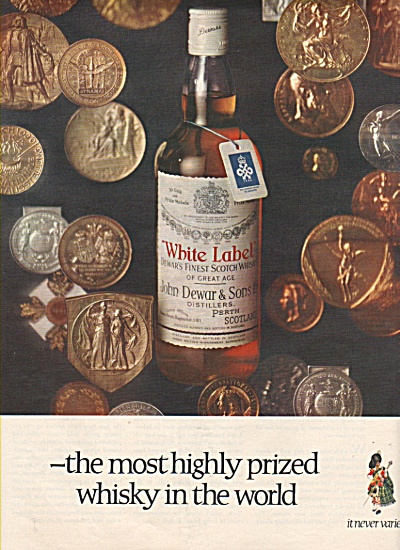 White Label - John Dewar & sons. ad 1968 (Image1)