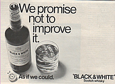 Black & White scotch whisky ad 1968 (Image1)