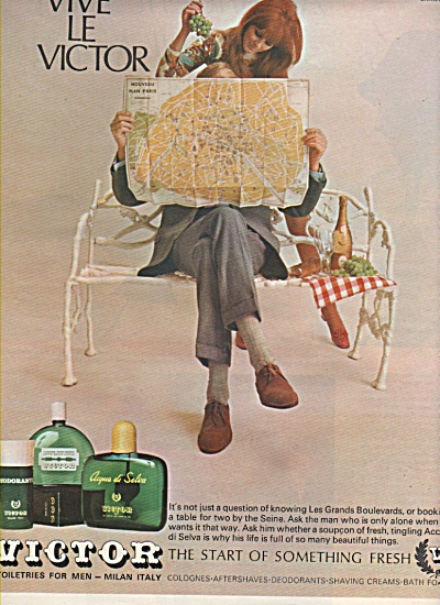 Victor toiletries for men - Milan Italy ad 1968 (Image1)