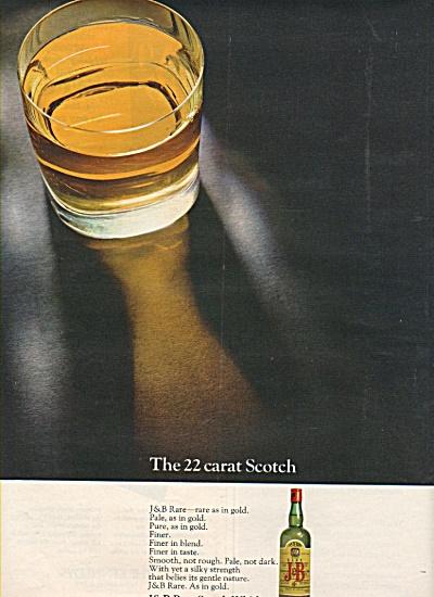 J & B Rare scotch whisky ad 1968 (Image1)