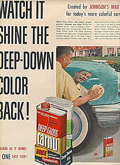 Deep Gloss Carnu wax ad (Image1)