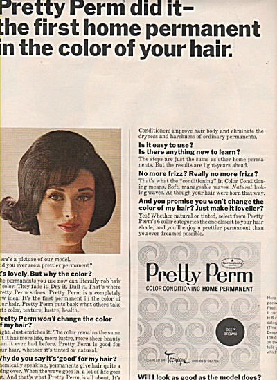 Pretty perm home permanent ad 1963 (Image1)