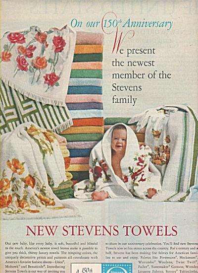 Stevens fabrics - towels ad 1963 (Image1)