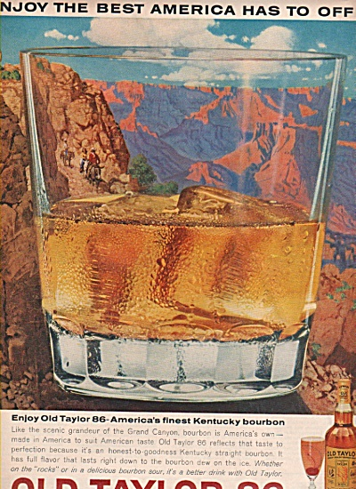 Old Taylor 86 Kentucky bourbon ad 1963 (Image1)
