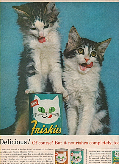 Friskies cat food ad 1963 (Image1)