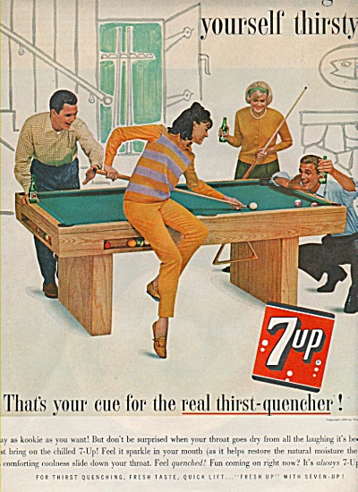 7-up Thirst Quencher Ad 1963