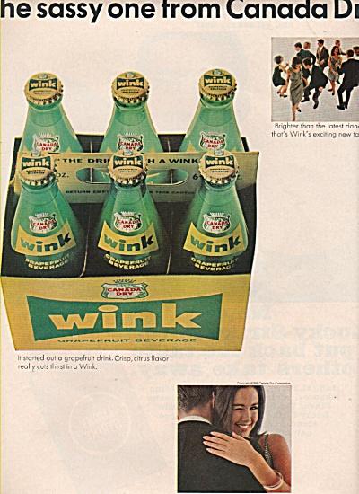 Wink grapefruit beverage ad  1965 (Image1)