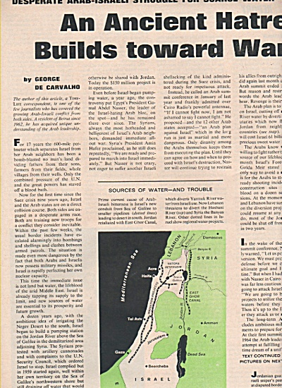 Arab-Israeli struggle for scarce water  1965 (Image1)