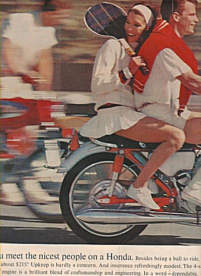 Honda motorcycles ad  1965 (Image1)
