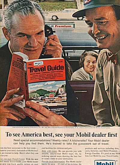 1965 Mobil Oil Dealers Print Ad Edward Hughes From Ny