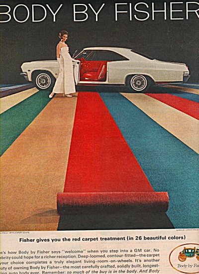1965 Body by Fisher Print AD Chevy Impala Sports Coupe (Image1)