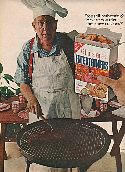 1965 Nabisco Entertainers Crackers Print AD - BBQ  (Image1)