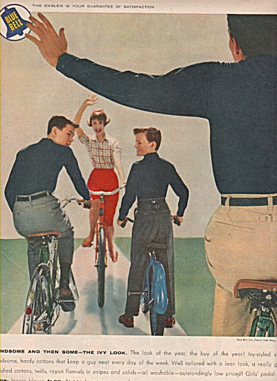 1958 Blue Bell Clothing 4 Family Print AD - Handsome (Image1)