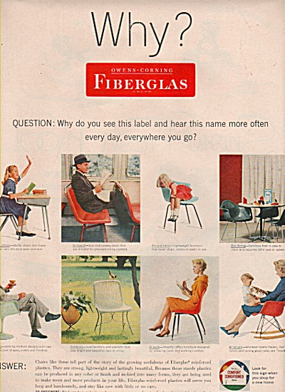 Fiberglas - Owens- Corning ad 1958 (Image1)