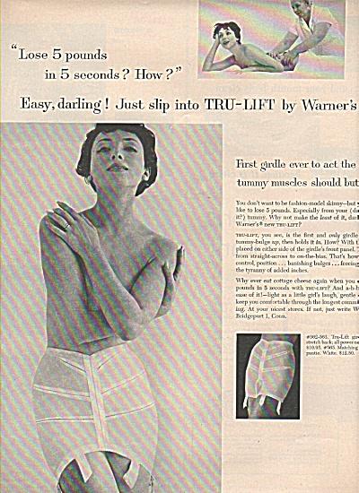 Warner's girdles ad 1958 (Image1)