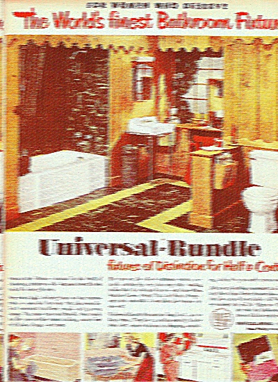 Universal Rundle Fixtures Ad 1951