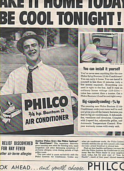Philco air conditioner ad 1957 (Image1)