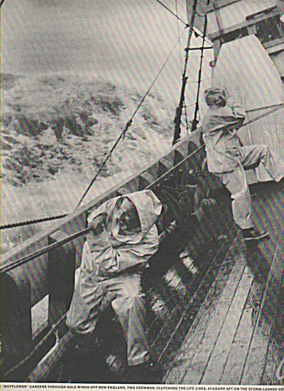Mayflower sails  through a gale  1957 (Image1)