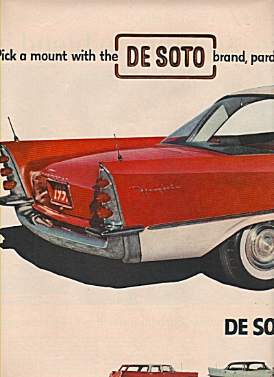 1957 Dodge DeSoto Car Print AD COWBOY (Image1)