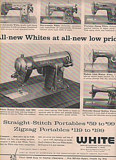 1958 White sewing machine corporation Print AD (Image1)