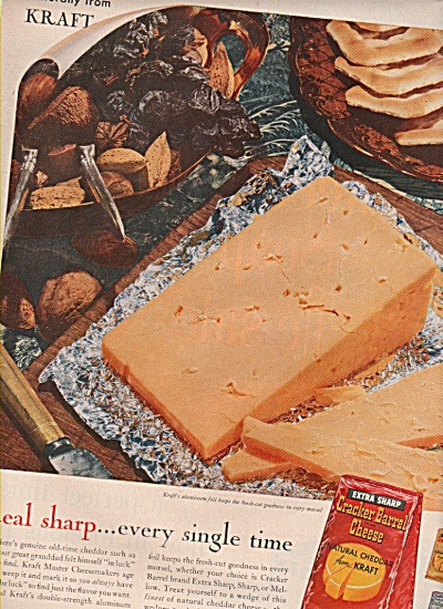 Cracker Barrel cheese from Kraft ad 1958 (Image1)