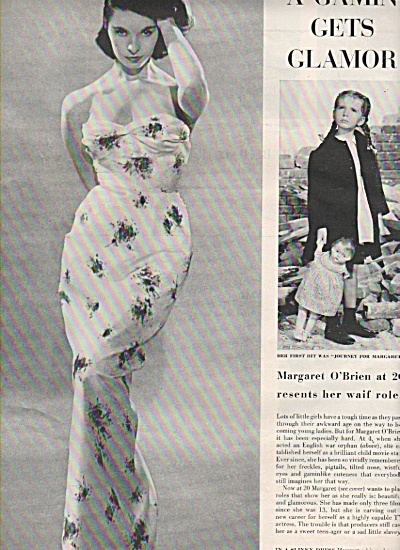 MARGARET O'BRIEN  - Movie star  1958 (Image1)