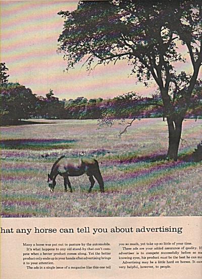 1958 Advertising Print AD - HOW ADVERTISING HELPS  (Image1)