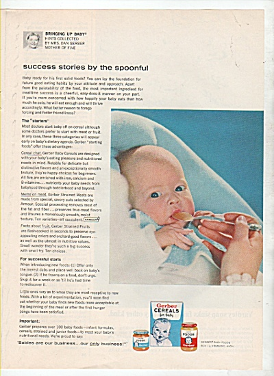 Gerber cereals for baby ad 1964 (Image1)
